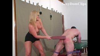 Fflower Tucci gives a sexy, hard femdom spanking