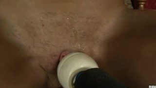 trinity force to orgasm while she can't move