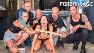 CrowdBondage – Brazilian Babe Francys Belle Spanked & Fucked At BDSM Party
