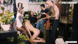 CrowdBondage – Aruna Aghora Naughty Russian Babe BDSM Domination By Big Black Cock