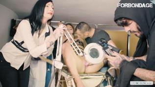 CrowdBondage – Amirah Adara Bound And Fucked Hungarian Slave Girl In BDSM