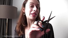 Mistress Abigail cuts your loser penis and keep it in a jar