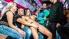 ForBondage  Euro Babe Deborah Diamond Has Hot BDSM Group Sex