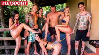 LETSDOEIT – Hot PornStars Have a Kinky Bondage Pool Party (Francys Belle, Valentina Bianco, Loren Minardi)