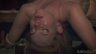 Submissive tied up with rope get fetish sex